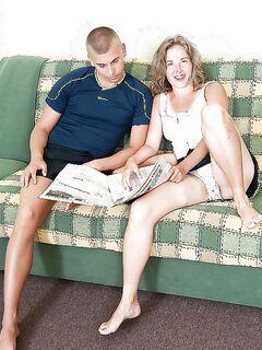 Olga соблазнила партнера своей волосатой дырой